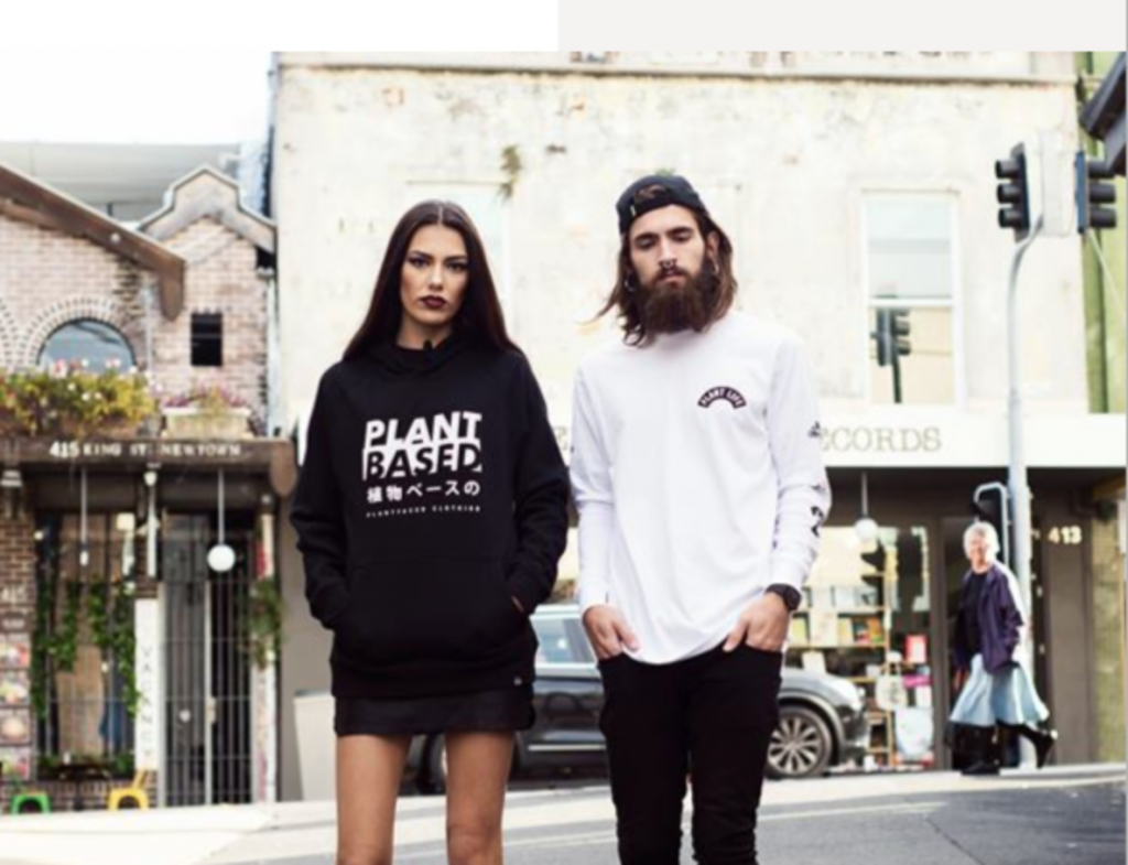 Plant faced clothing, sustainable
